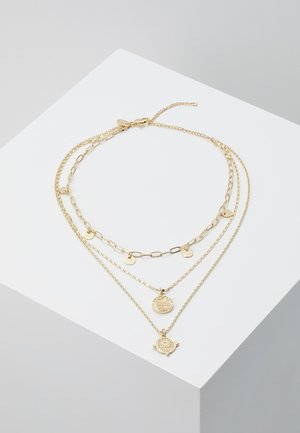 COIN & DISC - Necklace - gold-coloured