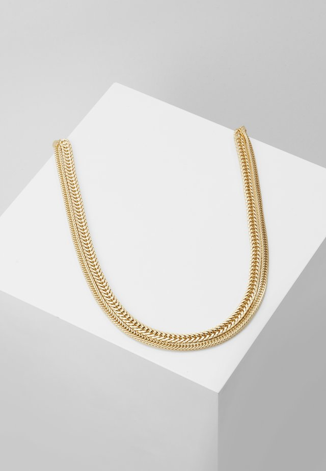 SKINNY CHAIN 2 ROW NECKLACE - Halskæder - gold-coloured