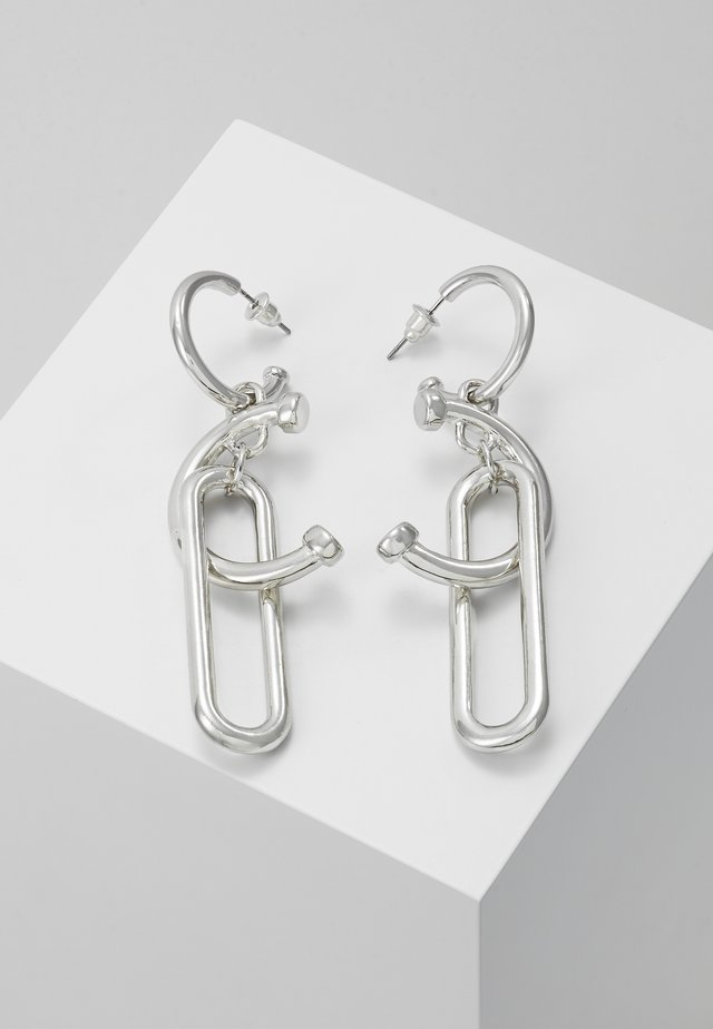 ABSTRACT MIX LINK EARRINGS - Øreringe - silver-coloured