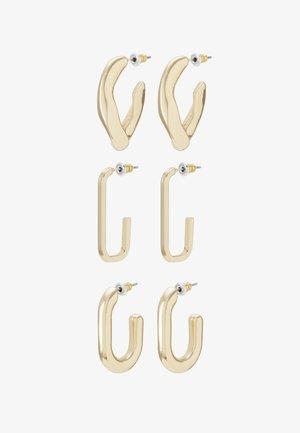 HOOP 3 PACK - Earrings - gold-coloured