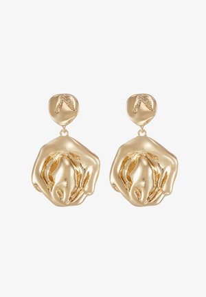 MOLT SHAPE DOUBLE - Earrings - gold-coloured
