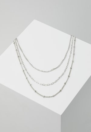 3 ROW CHAIN - Halskæder - silver-coloured