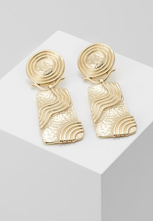 HAMMERED DROPS - Earrings - gold-coloured