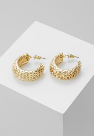 TEXTURED HOOPS - Earrings - gold-coloured