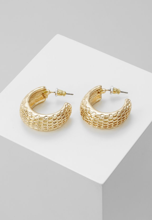 TEXTURED HOOPS - Oorbellen - gold-coloured