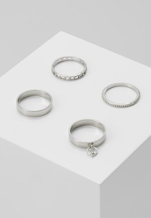 CHAIN STACKING 4 PACK  - Ringe - silver-coloured