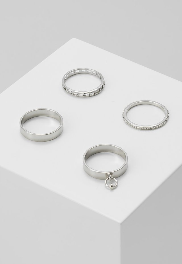 CHAIN STACKING 4 PACK  - Ring - silver-coloured