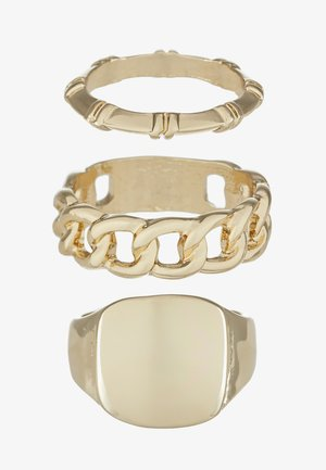 BAMB CHAIN SIGNET 3 PACK  - Ring - gold-coloured