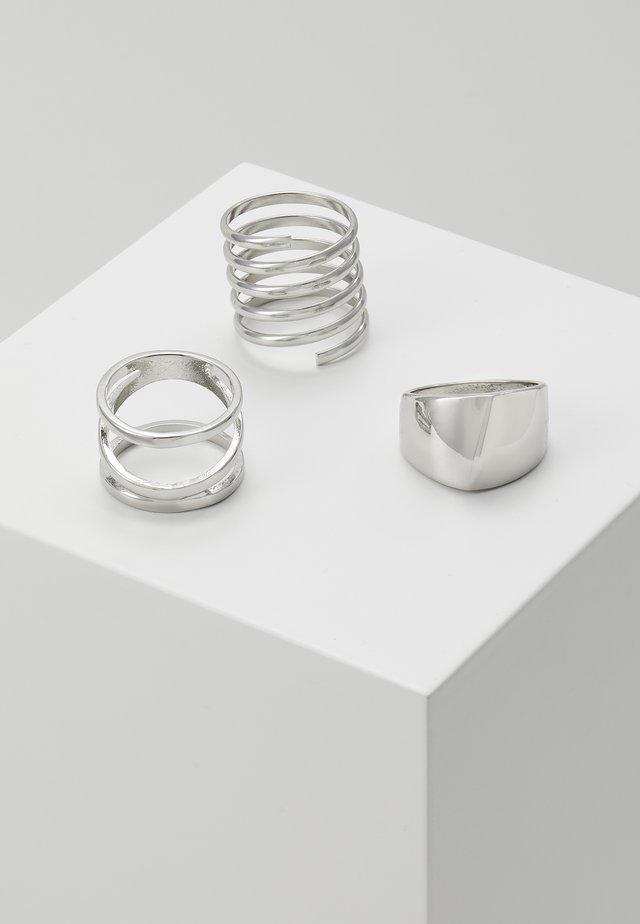 3 PACK - Ringe - silver-coloured