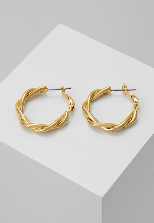 TWIST HOOP - Øreringe - gold-coloured