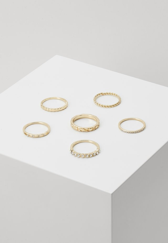 6 PACK - Ringar - gold-coloured