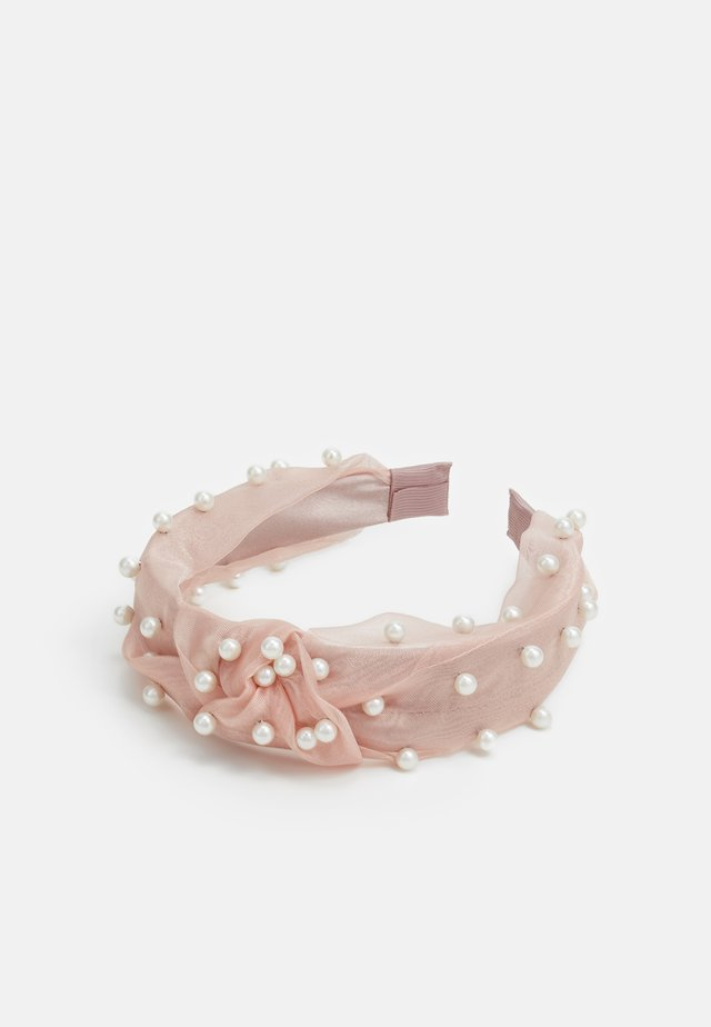 PEARL EMBELLISHED KNOT - Hair Styling Accessory - pink