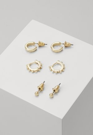 ESSENTIALS 3 PACK - Earrings - gold-coloured