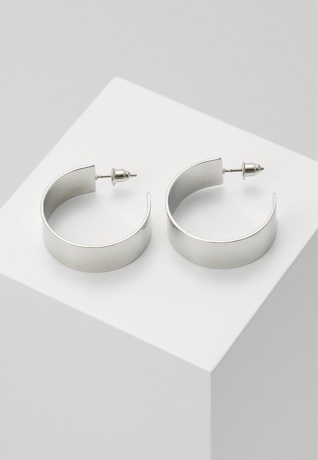 CLEAN HOOP - Ohrringe - silver-coloured