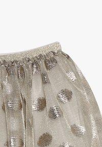 Lili Gaufrette - GRATA - Mini skirt - gilver - 4