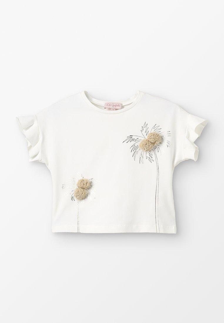 Lili Gaufrette - GARDEN - T-shirts print - nacre