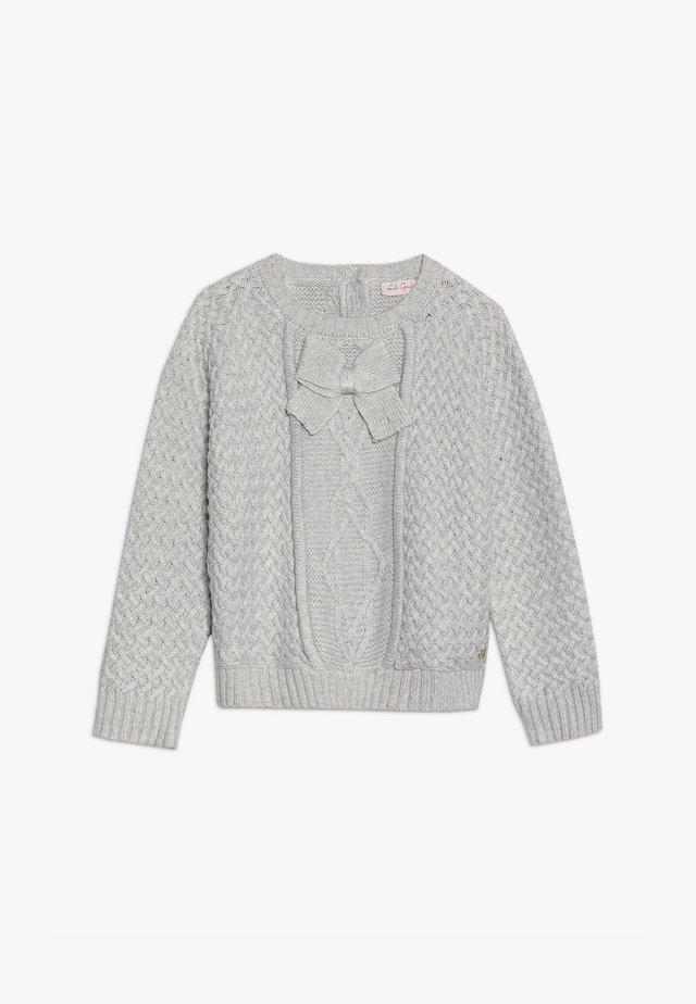 LUNULE - Stickad tröja - gris clair