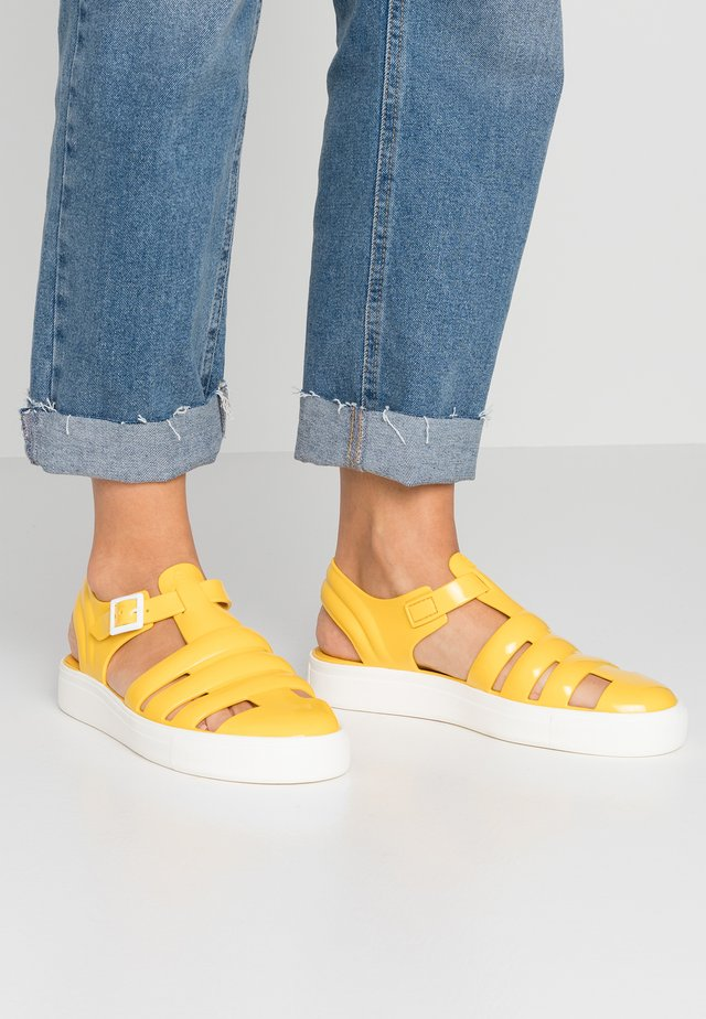 CRYSTAL - Sandals - vibrant yellow