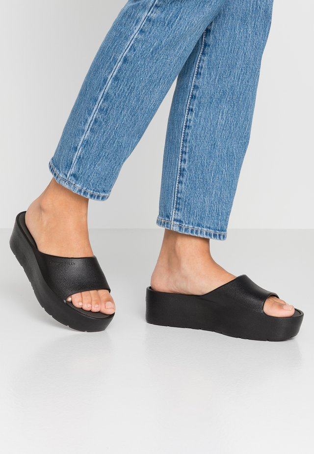 SUNNY - Slip-ins med klack - black