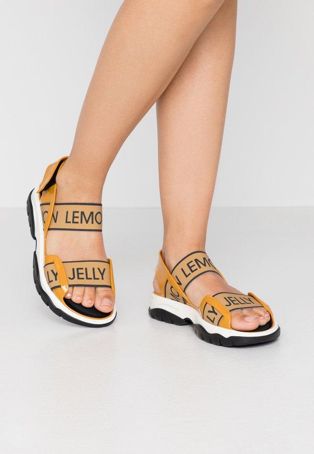 BECKY - Chodecké sandály - mustard