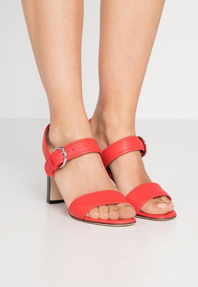 NATALIE - High heeled sandals - red