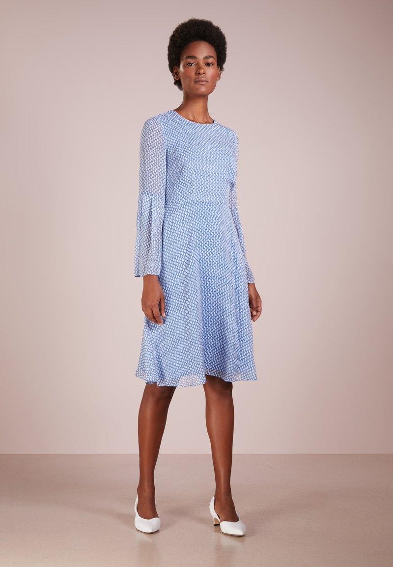 LK Bennett - ABBIE - Day dress - oval spots hockney blue