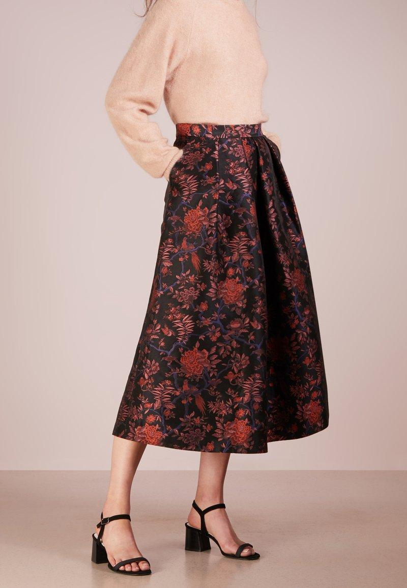 LK Bennett - DELYSIA - A-line skirt - black/pink