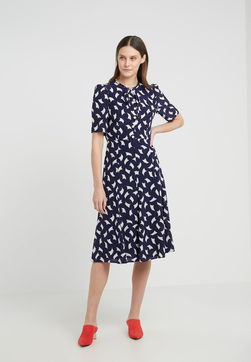 LK Bennett - MONTANA - Shirt dress - navy/white