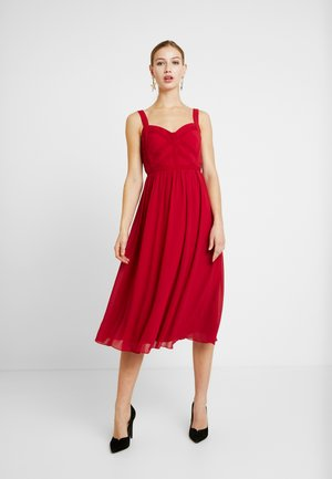 MIDI - Denní šaty - scarlet