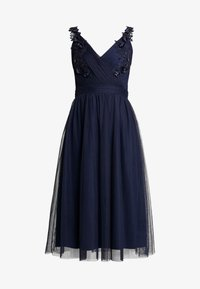 Little Mistress - A ROSETTE MIDI PROM DRESS WITH FLORAL AND FAU - Cocktailkjole - navy - 5