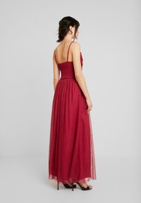 Little Mistress - ROSETTE MAXI DRESS - Galajurk - raspberry - 3