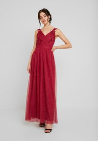 Little Mistress - ROSETTE MAXI DRESS - Galajurk - raspberry - 0