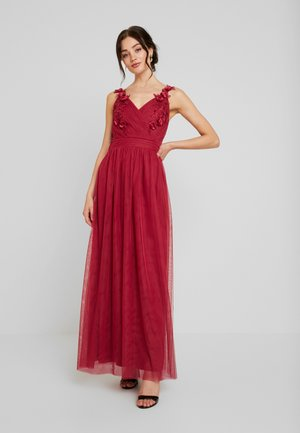 ROSETTE MAXI DRESS - Galajurk - raspberry