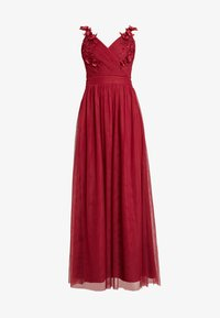 Little Mistress - ROSETTE MAXI DRESS - Galajurk - raspberry - 5
