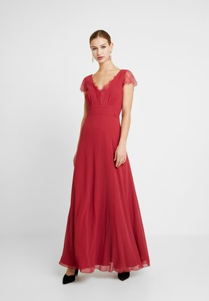BIANCA TRIM DRESS - Galajurk - raspberry