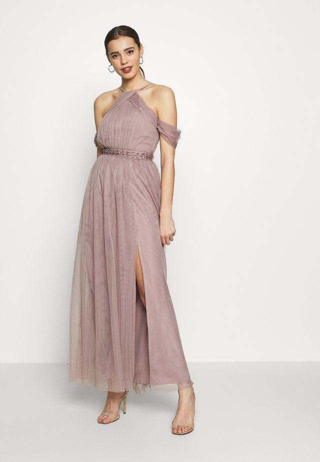MAXI TRIMS BELT - Ballkleid - oyster