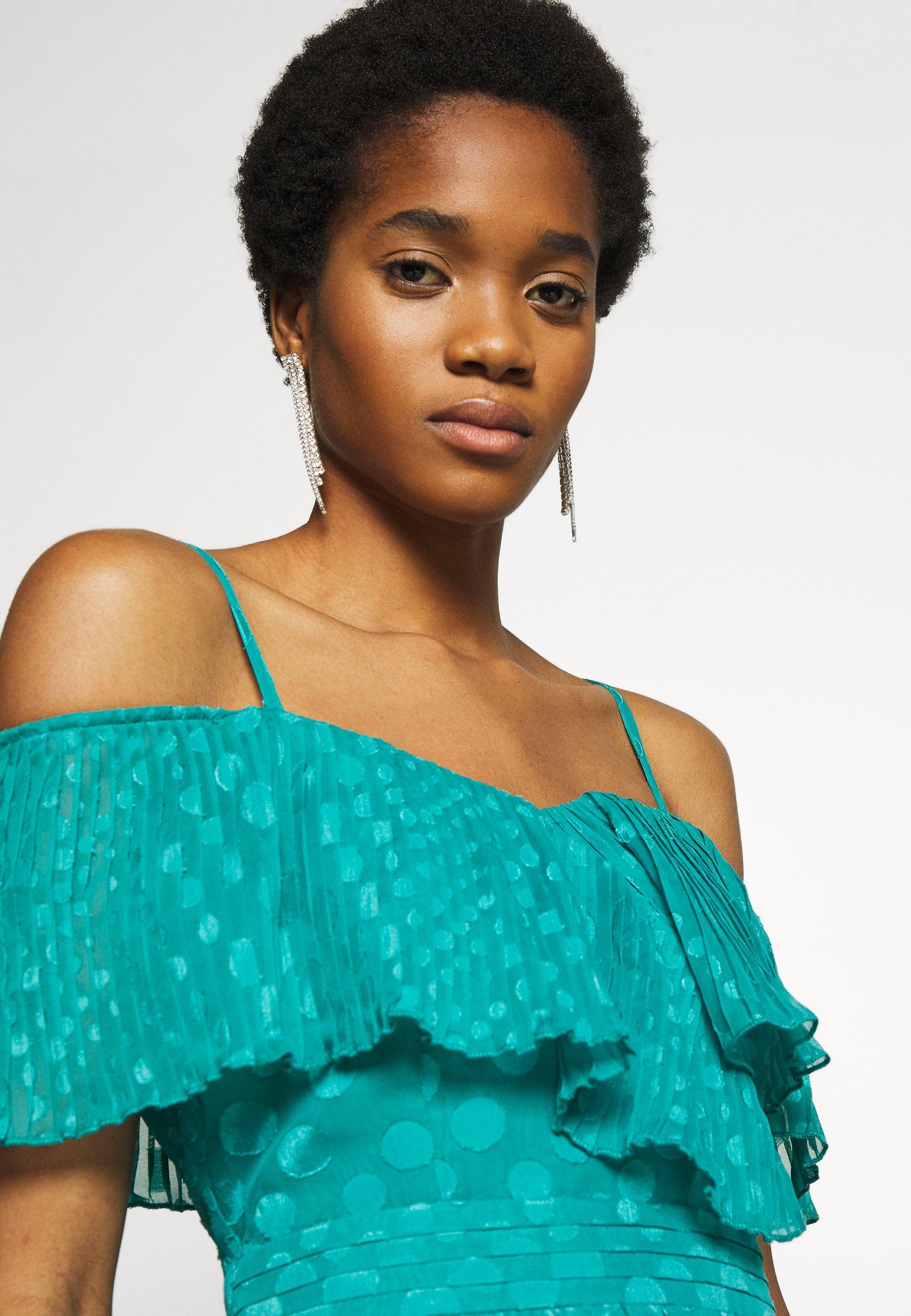 Little Mistress Maxi Spot Chiffon - Dress Aquatic Jade