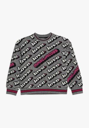 Sweatshirt - grau/rosa