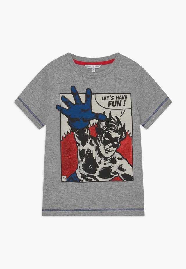 Print T-shirt - chine grey