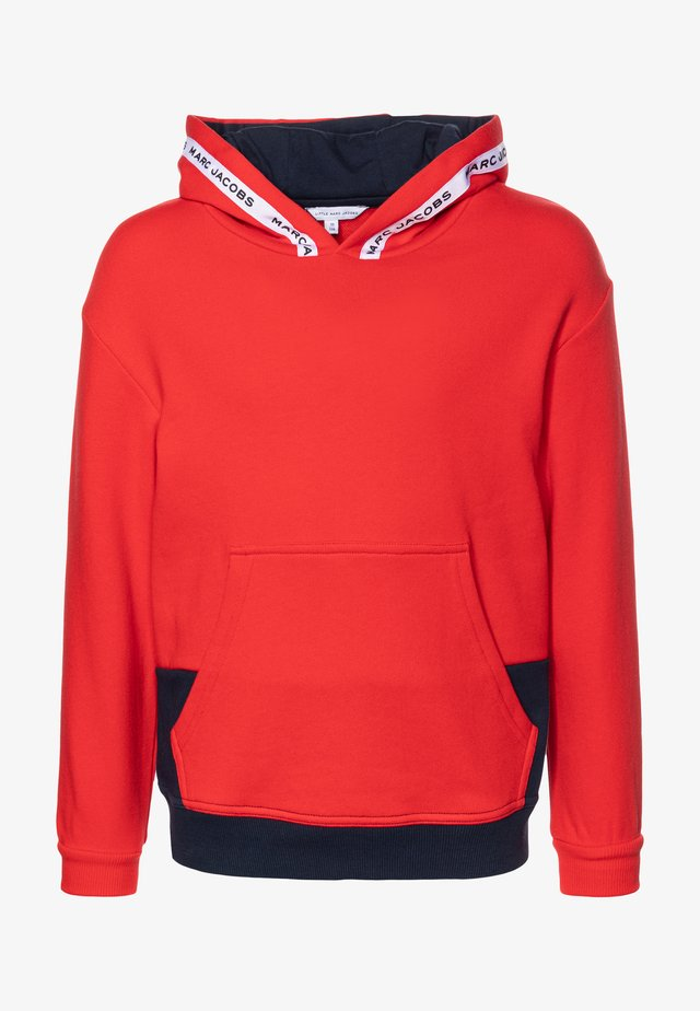 HOODED  - Luvtröja - red/blue navy