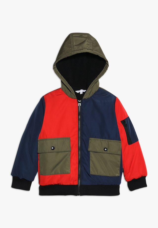 BLOUSON - Winter jacket - marine/rot
