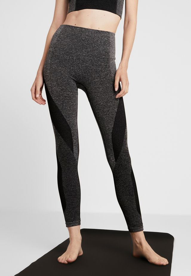 LAUNCH LEGGING - Legging - dark grey marl