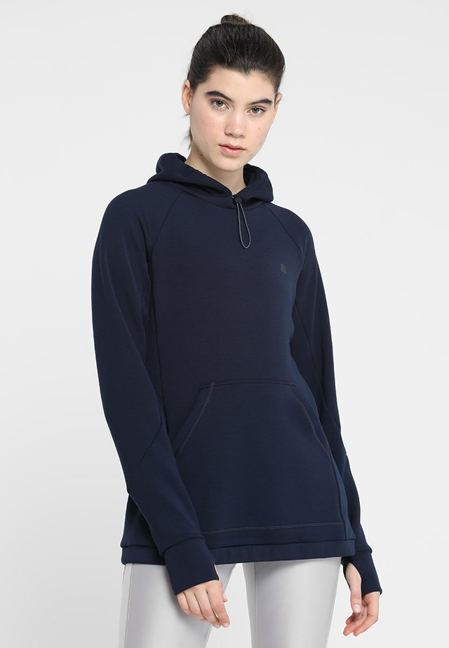 SMOOTH TECH HOODIE - Hættetrøjer - navy