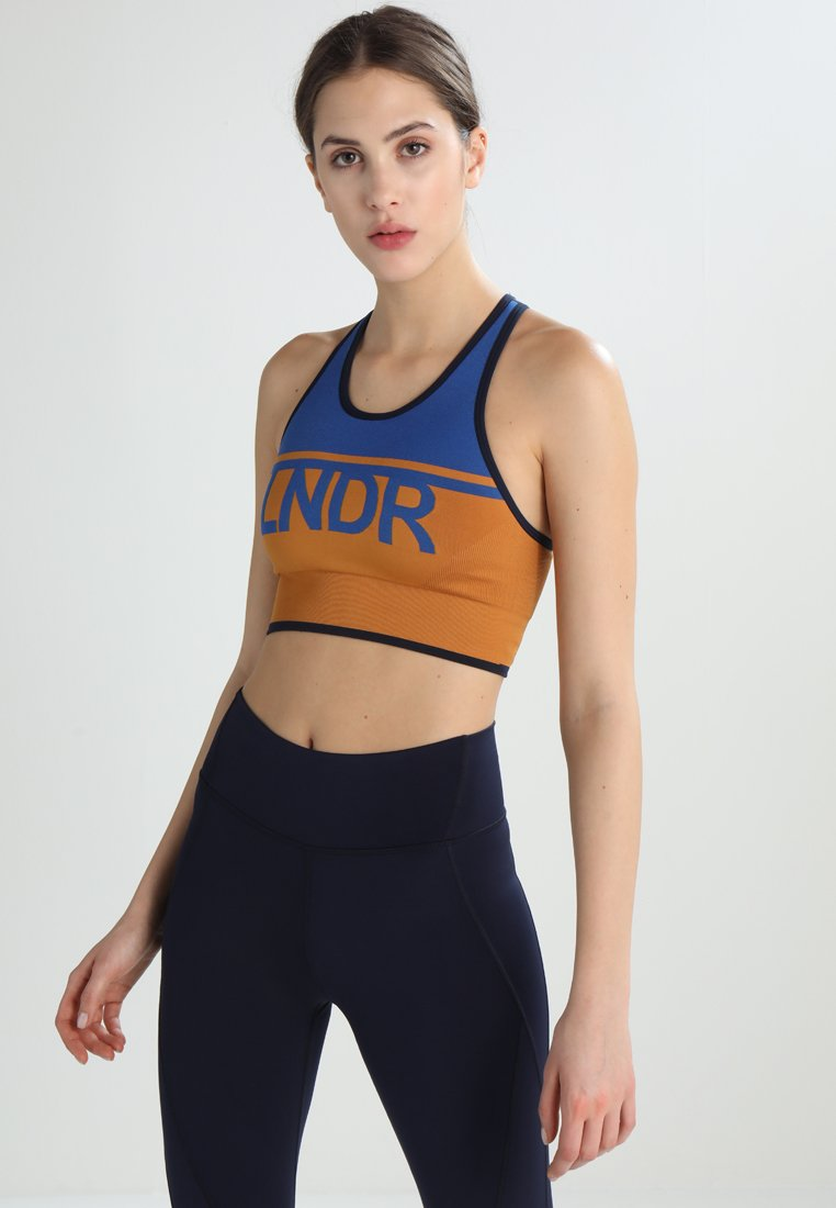 LNDR - A TEAM - Sports bra - blue/mustard
