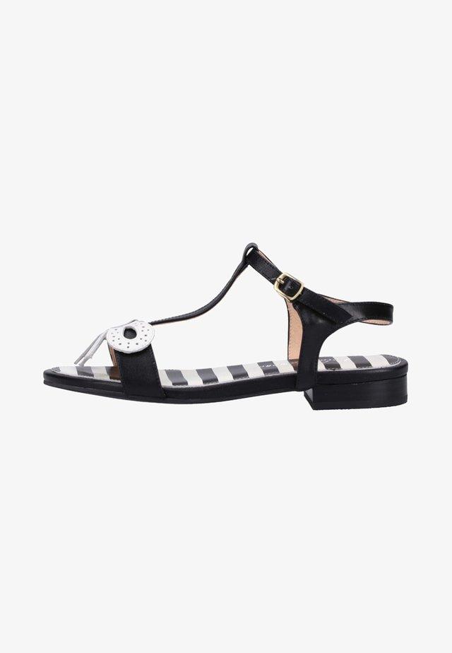 Sandals - black/cream