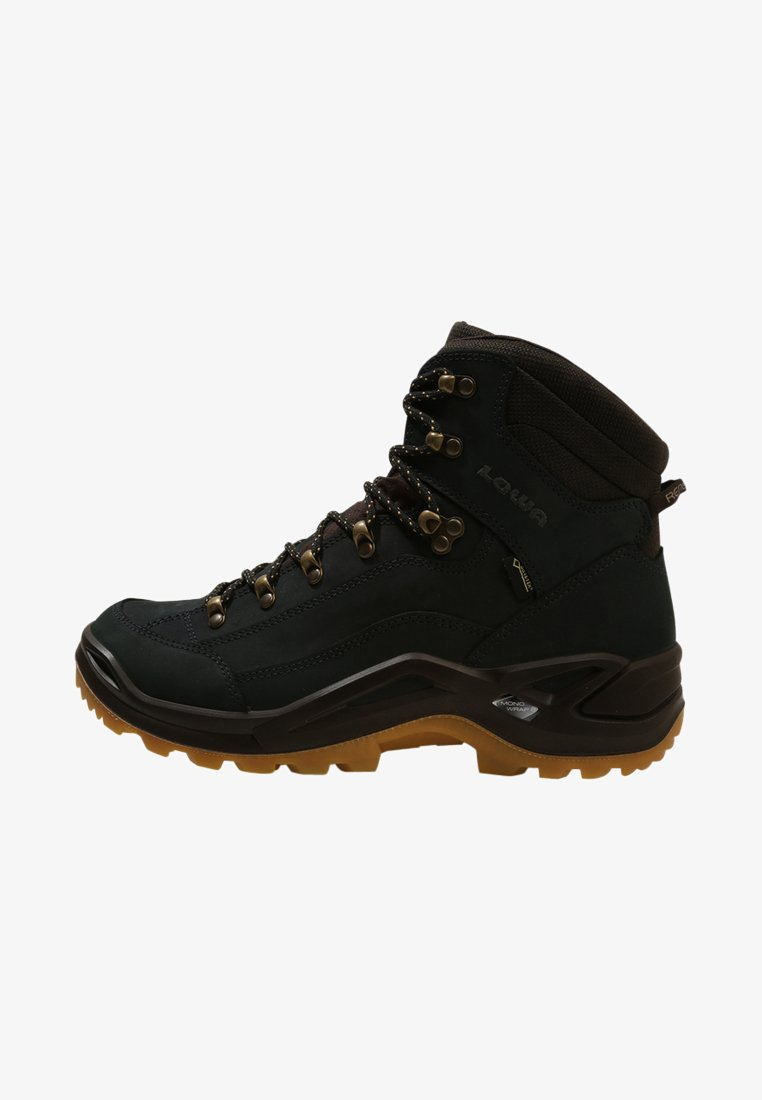Lowa - RENEGADE GTX MID - Hiking shoes - navy/honey