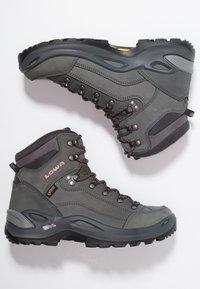 Lowa - RENEGADE GTX MID - Hiking shoes - graphite/rosé - 1