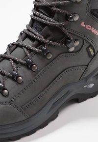 Lowa - RENEGADE GTX MID - Hiking shoes - graphite/rosé - 5