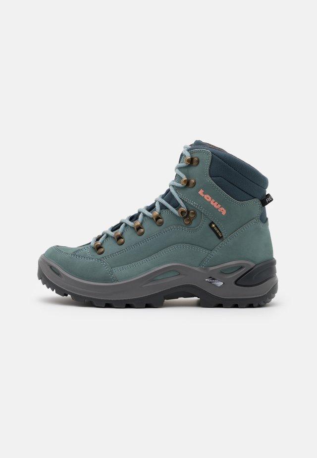 RENEGADE GTX MID - Hiking shoes - eisblau/lachs