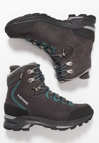 Lowa - MAURIA GTX - Hiking shoes - anthrazit/petrol - 1